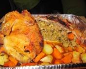 עוף ממולא בבשר